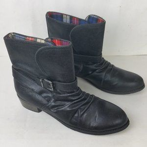 Dirty Laundry Black Chickadee Motorcycle Boots 10